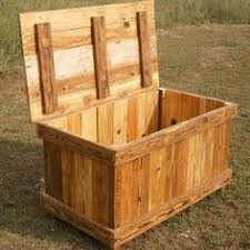 wood storage chest make your own pallet madness pinterest