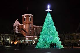 gorgeous green christmas tree is made from 40 000 recycled plastic