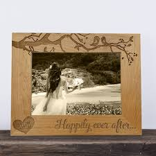 personalized wedding photo frame personalized wood frame wedding frame wood anniversary 5th