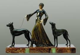 art deco dog ring holder images Animals of art deco jpg