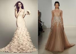 beige wedding dress big trend of 2015 coloured bridal gowns wedding