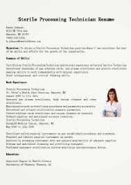 Sample Tech Resume by Sterile Processing Technician Resume Sample Resume For Your Job
