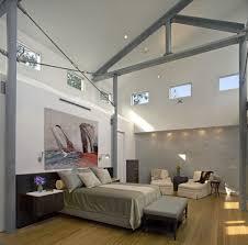 dark wood floors grey walls bedroom contemporary with grey wall