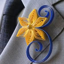 royal blue boutonniere blue and gold boutonniere dusty from accented