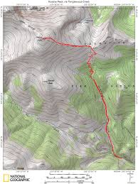 14ers Map Rosalie Peak Via Tanglewood Creek Mountain Air