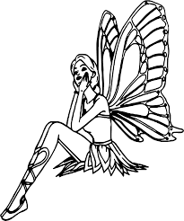 thinking butterfly angel coloring page wecoloringpage