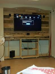 Shabby Chic Entertainment Center by Pallet Entertainment Center Add Tv And Wiring Step 4 My Stuff