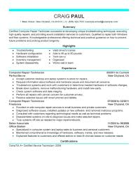Hvac Sample Resume by A C Mechanic Resume Resume Computer User Support Specialists