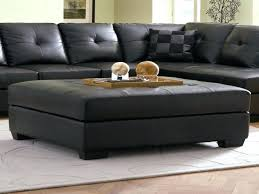 Leather Square Ottoman Coffee Table Black Leather Square Ottoman Square Black Leather Ottoman Coffee