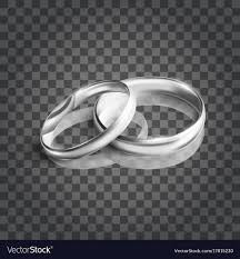 silver wedding rings images Silver wedding rings on transparent background vector image jpg