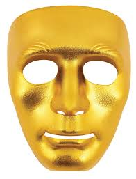 plain mask masks in gold or silver and plain white colors