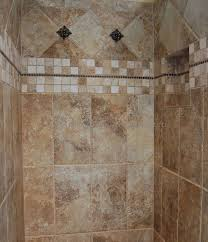 Best Tile Showers Images On Pinterest Bathroom Ideas - Shower wall tile design