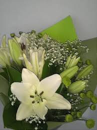 white lillies a grab one white lilies fresh flowers