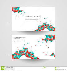 Free Graphics For Business Cards Geometric Colorful Triangles Design For Business Card Stock Vector