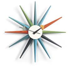 Design Clock by Vitra Sunburst Multi Wall Clock