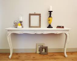 Narrow White Console Table Remodelaholic How To Make Two Console Tables