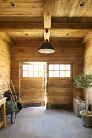 Rustic Wood Interior Walls Garden Hose Reel In Garage And Shed Rustic With Interior Wall