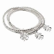 lucky leaf bracelet images Lucky 4 leaf clover bracelet contagious designs JPG