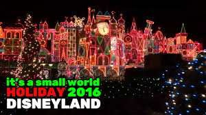 world christmas it s a small world ride during 2016 christmas season at
