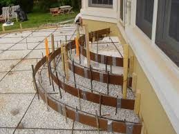 How To Install A Concrete Patio Exterior Steps Rounded Concrete Patio Steps Group Picture