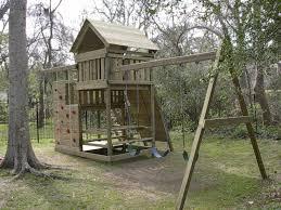 gemini playset diy wood fort and swingset plans