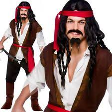 Pirates Caribbean Halloween Costume Mens Caribbean Pirate Costume Ebay