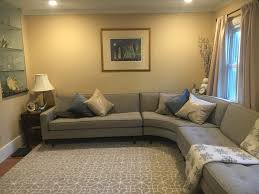 How To Decorate A Living Room With A Brown Leather Sectional Reese Curved Sectionals Modern Sectionals Modern Living Room