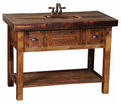 Barnwood Bathroom Vanity Open Oak Barnwood Vanity W Drawers Custom Log Bathroom
