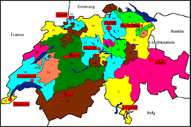 swiss map cantons of switzerland