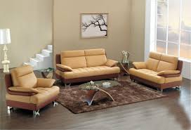 Light Brown Leather Sofa Light Brown And Cream Leather Sofa With Silver Steel Legs Combined