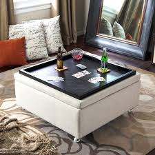 Ottoman With Table Square Ottoman Coffee Table Etechconsulting Co