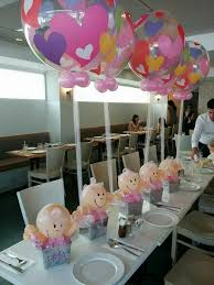 baby shower table decoration adorei esses arranjos de mesa baby shower balloons balloons