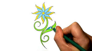Flowers Designs For Drawing How To Draw A Cool Simple Daisy Flower Tattoo Design Youtube