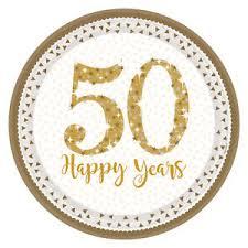 anniversary plates 8 x golden wedding plates sparkling gold 50th anniversary plates