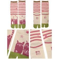 in japan designer tabi socks neko sakura 22 u2013 25 cm