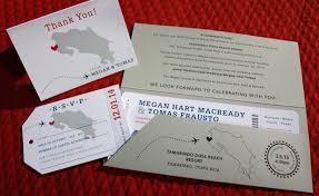 boarding pass wedding invitations airline ticket wedding invitations costa rica map dotted airplane