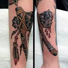 70 tomahawk tattoo designs for men american indian axe ideas