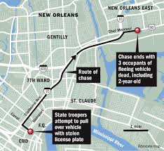 New Orleans Murder Map by Family Of 2 Year Old Killed After State Police Chase In New