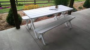 pine table and bench patio set from dutchcrafters amish furnitue