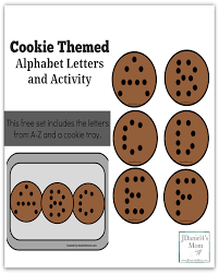 themed letters cookie themed alphabet letters and activity jdaniel4s