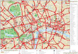 Map Of London England by Download Printable London Street Map Major Tourist Attractions Maps