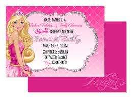 party invitations barbie party invitations ideas popular