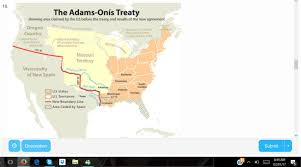 Florida And Georgia Map by Look At The Map Above Based On Your Knowledge Of The Adams Onis