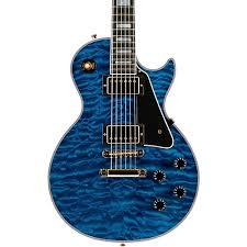 light blue gibson les paul gibson custom les paul custom 5a quilt top with gold hardware