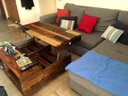 lift top coffee table with wheels coffee table with raised top lift up top pallet coffee table with