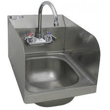 Wall Mount Hand Sink With Welded Splash Guards GSW - Kitchen sink splash guard