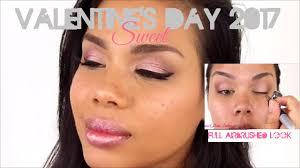 valentine u0027s day airbrush makeup 2017 sweet youtube