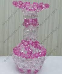 Beaded Vases Pink Transparent Wedding Beaded Drop Vase Cbv013 Wholesale Pink