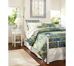 White Metal Bed Frame Queen Claudia Bed Pottery Barn