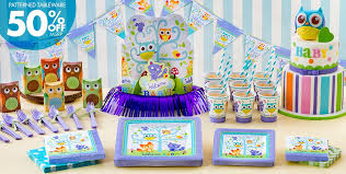 owl themed baby shower decorations woodland baby shower party supplies party city